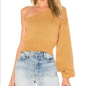 Tularosa Midnight Sweater one shoulder sweater